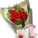 빨간장미꽃다발+사탕