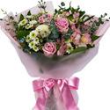 꽃과나비꽃다발+사탕